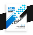 abstract modern business annual report brochure vector image