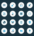 audio colorful icons set collection of vinyl vector image vector image
