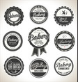 bakery retro labels collection vector image vector image