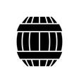 barrel icon black sign on vector image vector image