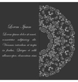 Black and white card design with ornate pattern vector image vector image