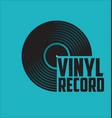 black vinyl record disc flat concept vector image vector image