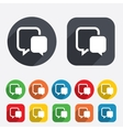 Chat sign icon Speech bubble symbol vector image vector image
