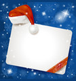 christmas panel on snowy background vector image