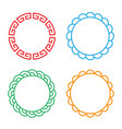 classic chinese circle window and photo frame vector image vector image