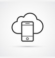 cloud phone flat line trendy black icon eps10 vector image vector image