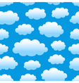 cloudy sky pattern vector image vector image
