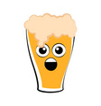 colored surprised beer glass icon vector image vector image
