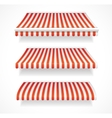 colorful awnings for shop set red vector image vector image
