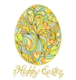 colorful easter egg on white background vector image vector image