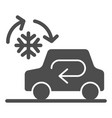 cooling car system solid icon auto air vector image