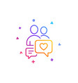 couple communication icon love chat symbol vector image