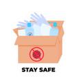 covid19-19 coronavirus epidemic box with virus vector image vector image