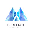 creative crystal logo template abstract emblem in vector image