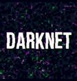 darknet theme poster vector image vector image