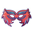 fashion carnival mask icon cartoon style vector image vector image