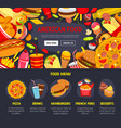 fast food web site landing page template vector image