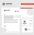 fireworks business letterhead envelope and vector image vector image