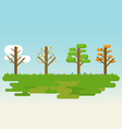 Flat four season tree vector image vector image