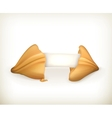 Fortune cookie banner vector image vector image