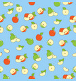 fresh apples seamless vector image vector image