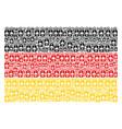 germany flag mosaic of death skull tag items vector image