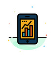 graph analytics info graphic mobile mobile graph vector image vector image