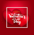 happy valentines day hearts vector image vector image