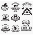 hunt 1 logo badge vector image