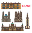 ireland landmarks architecture belfast cork vector image