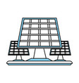 isolated solar panel design vector image vector image
