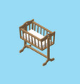 isometric baby cradle vector image