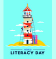 literacy education concept kids building culture vector image vector image
