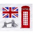London symbols flag vector image