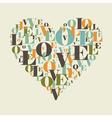 Love heart vector image vector image
