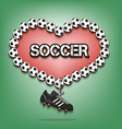 Love of soccer vector image vector image