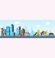 megapolis vs village urban landscape downtown vector image vector image