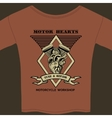 motor hearts motorcycle workshop vector image vector image