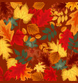 naturalistic multicolored autumn leaves vector image