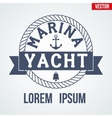Nautical Yacht logotype vector image