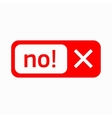 No check mark icon icon simple style vector image vector image