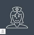 nurse related thin line icon vector image vector image