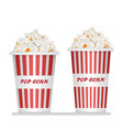 popcorn bucket isolated on white vector image vector image