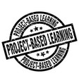 project-based learning round grunge black stamp vector image vector image