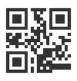 qr code hidden text or url scanning vector image