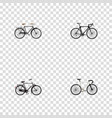 realistic fashionable exercise riding road vector image vector image