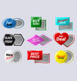 realistic sale badges buttons special offer vector image