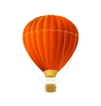 red air ballon isolated on white vector image