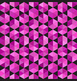 seamless pattern of volumetric hexagons in pink vector image