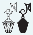 silhouette lamp wrought metal vector image vector image